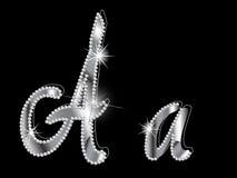 Diamond letters Stock Image