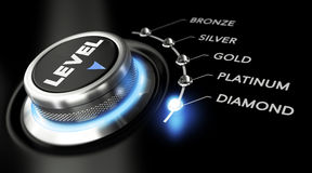 Diamond Level Arkivfoton