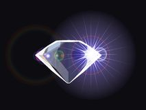 Diamond with light reflection Stock Image