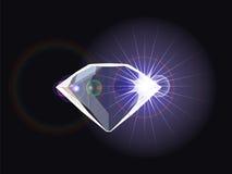 Diamond with light reflection. Abstract vector art illustration Stock Image