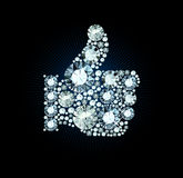 Diamond Like Thumb Up Sign Stockfoto