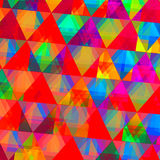 Diamond-Like Triangle Pattern. Abstract Colorful Digital Diamond-Like Triangle Pattern Background Stock Images