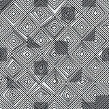 Diamond line black color seamless pattern Royalty Free Stock Photo