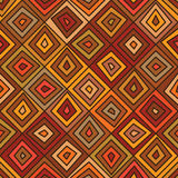 Diamond line brown color seamless pattern Royalty Free Stock Photo