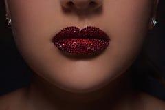 Diamond lips Stock Photo