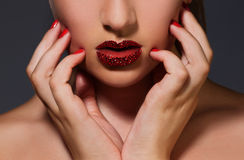 Diamond lips Stock Photos