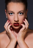 Diamond lips Royalty Free Stock Images