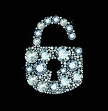 Diamond Lock Icon Stock Foto's