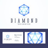 Diamond logo and business card template. Royalty Free Stock Image