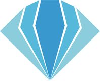 Diamond Logo Luxury pour vos affaires illustration de vecteur