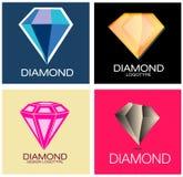 Diamond Logo Set Signs Stock Photo