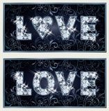 Diamond Love baner Royaltyfria Bilder
