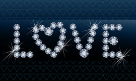 Diamond love banner Royalty Free Stock Image
