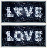 Diamond Love-banners Royalty-vrije Stock Afbeeldingen