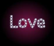 Diamond Love Word ilustração royalty free