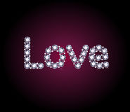 Diamond Love Word Stock Photo