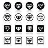 Diamond, luxury  icons set Royalty Free Stock Photo