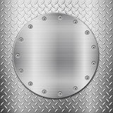 Diamond metal background and circle plate Stock Images