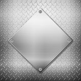 Diamond metal background and plate Stock Image