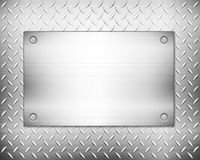 Diamond metal background and plate Royalty Free Stock Photography