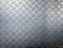 Diamond metal plate background Stock Images