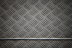 Diamond metal plate with joint Royalty Free Stock Photos