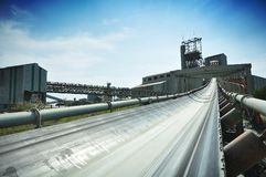 Diamond mine conveyor system Stock Image