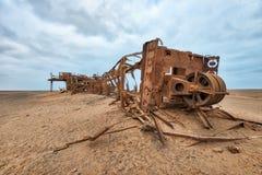 Diamond Mine Tower abandonado idoso no deserto de Namib Ja recolhido imagem de stock royalty free