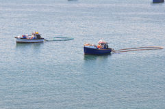 Diamond mining boats at Luderitz Royalty Free Stock Photography