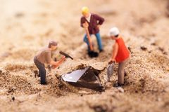 Diamond mining and treasure search concept Royalty Free Stock Photo