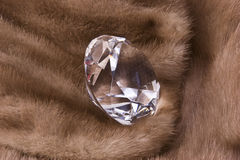Diamond on Mink Stock Photos