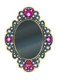 Diamond Mirror Frame Stock Photo