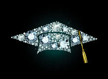 Diamond Mortar Board Royalty Free Stock Images