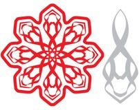 Diamond motif. Red decorative item which looks like diamond Stock Photography