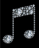 Diamond Music Note Royalty Free Stock Image