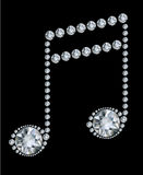 Diamond Music Note Royalty Free Stock Image