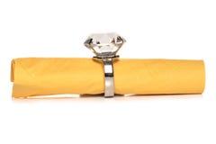 Diamond napkin holder Royalty Free Stock Photo