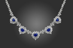 Diamond Necklace Stock Photography