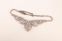 Diamond necklace. Beautyful diamond necklace, isolated on white background Vector Illustration