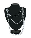 Diamond necklace on a black mannequin Royalty Free Stock Image