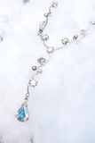 Diamond necklace in the snow Royalty Free Stock Photos