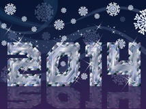 Diamond 2014 New Year background Stock Photography