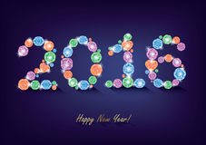 Diamond New Year 2016. Card stock illustration