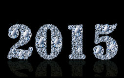 Diamond new 2015 year card Royalty Free Stock Images