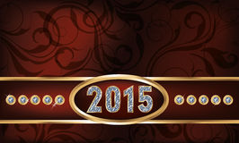 Diamond 2015 new year invitation card. Vector Stock Photography