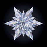 Diamond new year snowflake, vector Royalty Free Stock Images