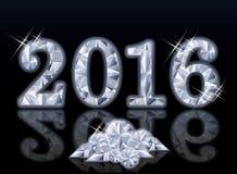 Diamond New Year 2016, vector Stock Foto