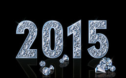 Diamond 2015 new year, vector. Illustration Royalty Free Stock Image