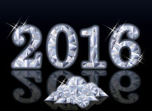 Diamond New Year 2016, vector. Illustration Stock Photo