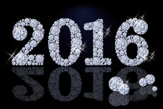 Diamond new year 2016. vector Royalty Free Stock Images